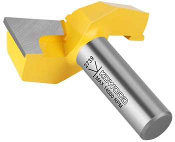 """KOWOOD 1/2"""" Inch Shank 2-1/4"""" (Dia.) Bottom Cleaning Router Bits"""