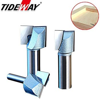 TIDEWAY Double Flute Carbide Tipped Cleaning Bottom Router Bit