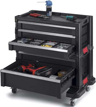 Roller Cart Tool Storage Chest Box