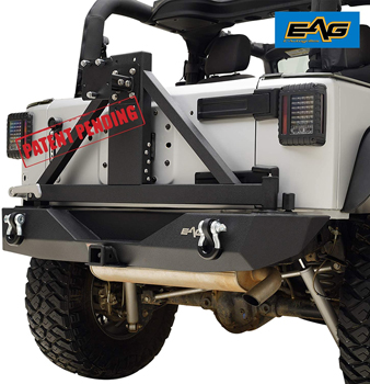 EAG Rear Bumper with Tire Carrier Fit for 07-18 Wrangler JK